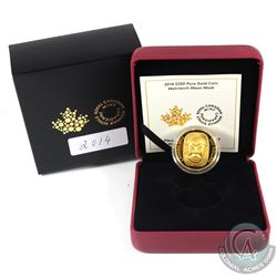 Canada 2014 $200 Matriarch Moon Mask Fine Gold Coin (Tax Exempt).