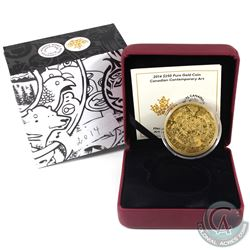 Canada 2014 $250 Contemporary Art Fine Gold Coin (Tax Exempt).