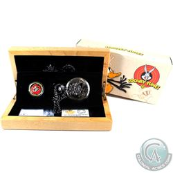 Canada 2015 $100 Gold 14KT Looney Tunes Bugs Bunny & Friends Gold Coin & Pocket Watch.