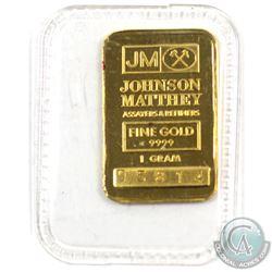 Johnson Matthey 1 GRAM Fine Gold Bar 'Sealed' (TAX Exempt). Serial # 05814