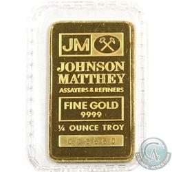 Johnson Matthey 1/4oz Fine Gold Bar 'Sealed' (TAX Exempt). Serial # 005660