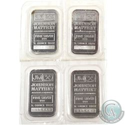Consecutive Johnson Matthey 1/2oz Fine Silver Bars with 'JM Logo' Reverse (TAX Exempt). Serial # 015