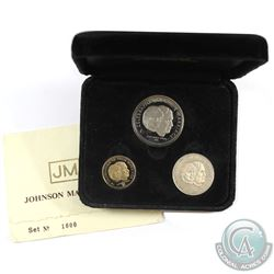 1981 Johnson Matthey Limited Edition 3-coin Set 1000/1000 Gold, Silver, & Nickel Set Commemorating t