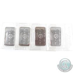 4x Vintage Royal Canadian Mint 1oz Fine Silver Bars 'B' Series (TAX Exempt). Serial # B006942, B0069
