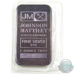 Ultra Scarce Johnson Matthey 1oz Fine Silver Promotional Bar with 'The Printing House' Reverse (TAX