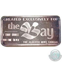 SCARCE! Alberta Mint 1oz 'The Bay' Edmonton Klondike Days Promotional Bar (Tax Exempt)