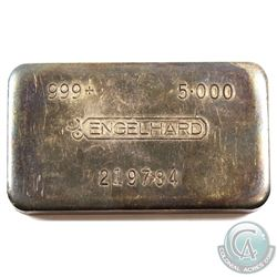 Extremely Rare! Engelhard 5oz 8th Series Machined Fine Silver bar! (TAX Exempt). Serial # 219784. 8t