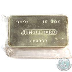Engelhard 10oz '2nd Series' Fine Silver Bar (TAX Exempt). Serial # 280989. 2nd Series 10oz example i