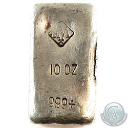 SCARCE! Johnson Matthey 10oz Small Logo (Tight Space 999) Fine Silver Bar (Tax Exempt)