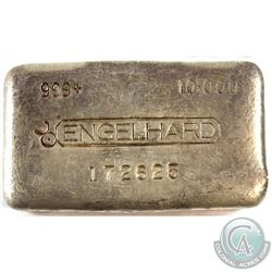 Unique Rare Engelhard 10oz Fine Silver Bar with Reverse Counter Stamp Error (TAX Exempt). Serial # 1