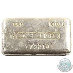 Rare Engelhard 10oz Fine Silver Bar Canadian Variation (TAX Exempt). Serial # 173214. This bar conta