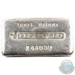 Scarce Engelhard 10oz Fine Silver '3rd Series' Bar (TAX Exempt). Serial # 144939.