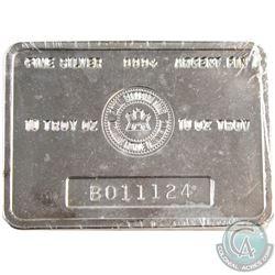 Vintage RCM 10 oz. 999+ Fine Silver Bar - B Series - (Tax Exempt). Serial # B011124.