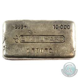 SCARCE! Engelhard 10oz '4th Series' Fine Silver Bar (TAX Exempt). Serial # 173070. This bar contains