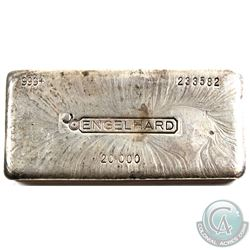 Engelhard 20oz Canadian Variation '7th Series' Fine Silver Bar (TAX Exempt). Serial # 233582. Bar co