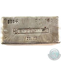 Ultra RARE! Engelhard 32.150oz Fine Silver Bar (TAX Exempt). Serial # 251360. This unique bar contai