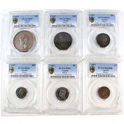 1937 Canada Mirror Specimen Set PCGS Certified. You will receive the 1-cent SP-64 RB, 5-cent SP-64,
