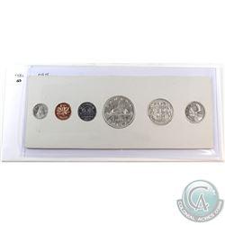 1954 Canada Shoulder Fold Proof-Like Set in original holder. Silver coins lightly toned but all have