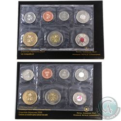 2004 The Poppy & 2006 Breast Cancer 7-coin Test Token Sets. 2pcs