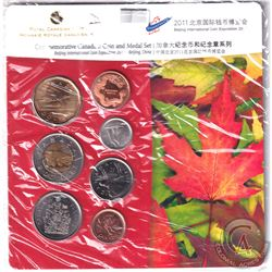 2011 Beijing International Expo Commemorative 6-coin and Medal set.