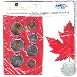 2011 Berlin World's Fair of Money Commemorative 6-coin and Medal set.