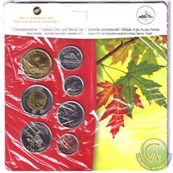 RCM Issue: 2012 Calgary Alberta Royal Canadian Numismatic Association Convention 6-coin and Medal se