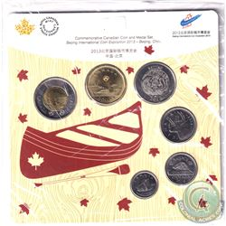 RCM Issue: 2013 Beijing International Stamp & Coin Exposition Commemorative 6-coin and Medal set.