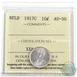 Newfoundland 10-cent 1917c ICCS Certified AU-50