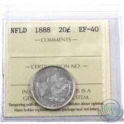 Newfoundland 20-cent 1888 ICCS Certified EF-40.