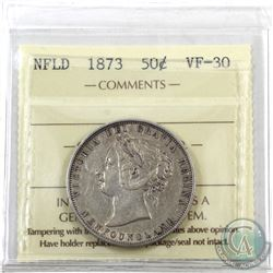 Newfoundland 50-cent 1873 ICCS Certified VF-30. *Key Date*