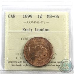1-cent 1899 ICCS Certified MS-64 Red; Landon