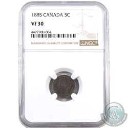 5-cent 1885 Small 5/5 NGC Certified VF-30
