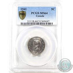 5-cent 1941 PCGS Certified MS-64