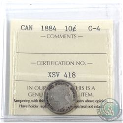 10-cent 1884 ICCS Certified G-4