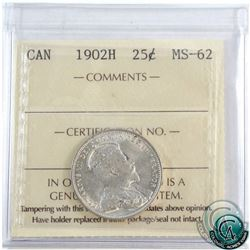 25-cent 1902H ICCS Certified MS-62!