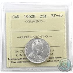 25-cent 1902H ICCS Certified EF-45.