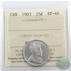 25-cent 1903 ICCS Certified EF-40