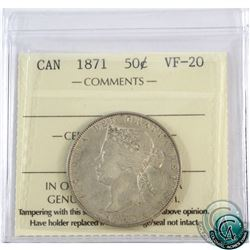 50-cent 1871 ICCS Certified VF-20