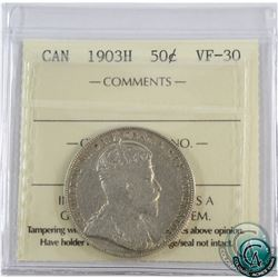 50-cent 1903H ICCS Certified VF-30.