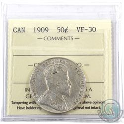 50-cent 1909 ICCS Certified VF-30.