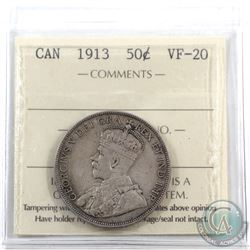 50-cent 1913 ICCS Certified VF-20
