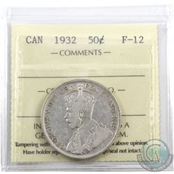 50-cent 1932 ICCS Certified F-12