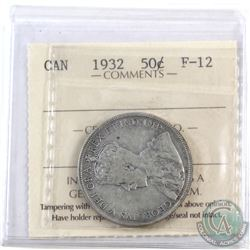 50-cent 1932 ICCS Certified F-12.