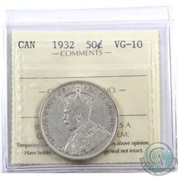 50-cent 1932 ICCS Certified VG-10.
