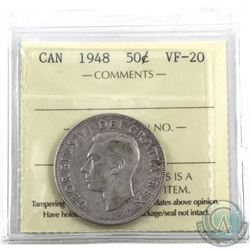 50-cent 1948 ICCS Certified VF-20