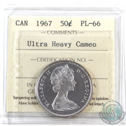 50-cent 1967 ICCS Certified PL-66 Ultra Heavy Cameo!
