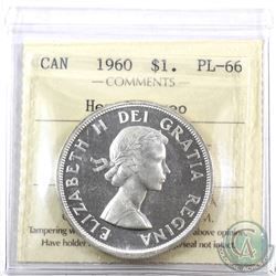 Silver $1 1960 ICCS Certified PL-66 Heavy Cameo.