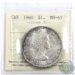 Silver $1 1960 ICCS Certified MS-65