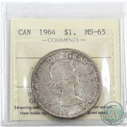 Silver $1 1964 ICCS Certified MS-65