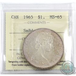 Silver $1 1965 SB Ptd5 ICCS Certified MS-65